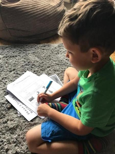 Tommy great phonics writing practice!