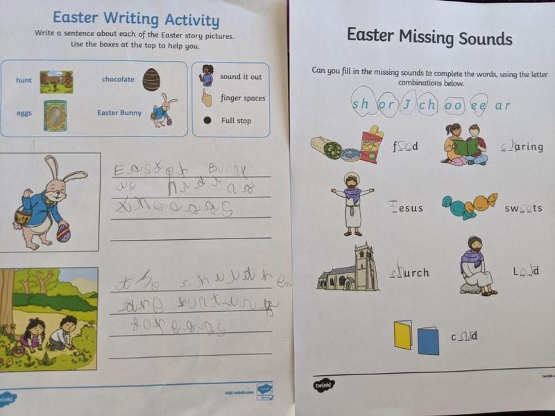 Great Easter writing Sebastian