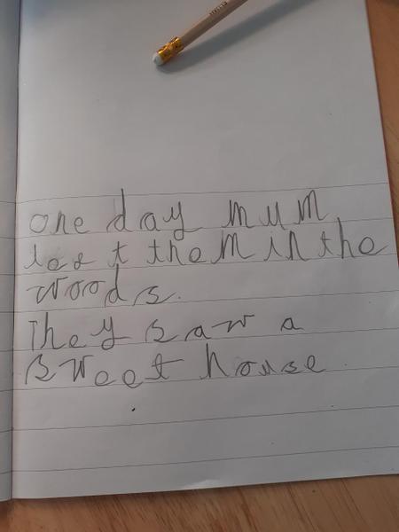 Elijah's amazing writing today in phonics!