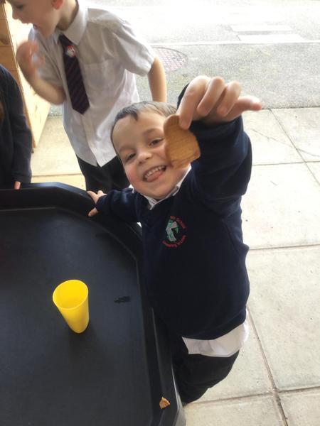 We enjoyed eating our gingerbread man