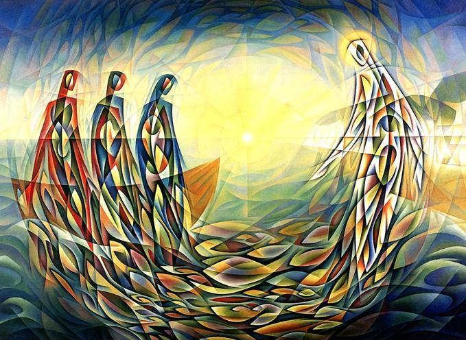 Our artwork for this topic - The Miraculous Draught of Fishes by John Reilly