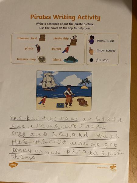 Beautiful writing Enzo-Lee well done!