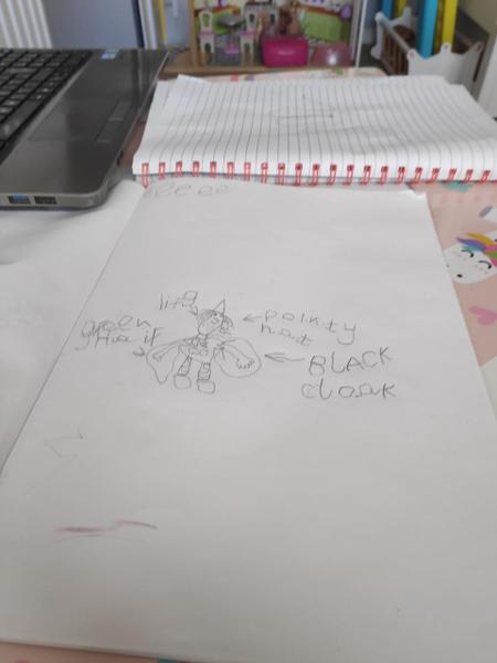 Oliwia's amazing writing after her phonics lesson!