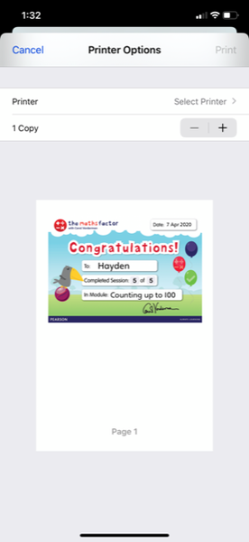 Great score Hayden with your Maths Factor!