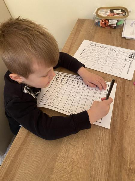 Great maths Alfie, you are working very hard!