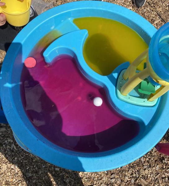 Excellent Alfie has been mixing colours!