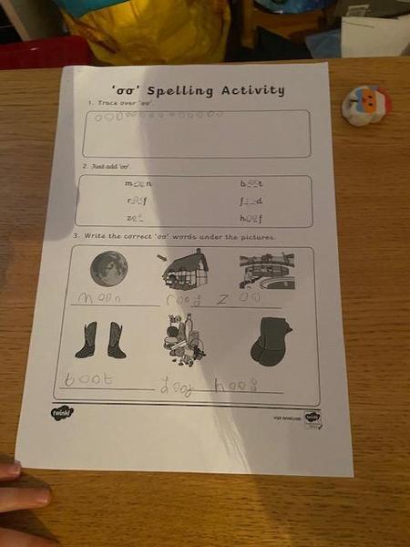 Great spelling work Hayden!