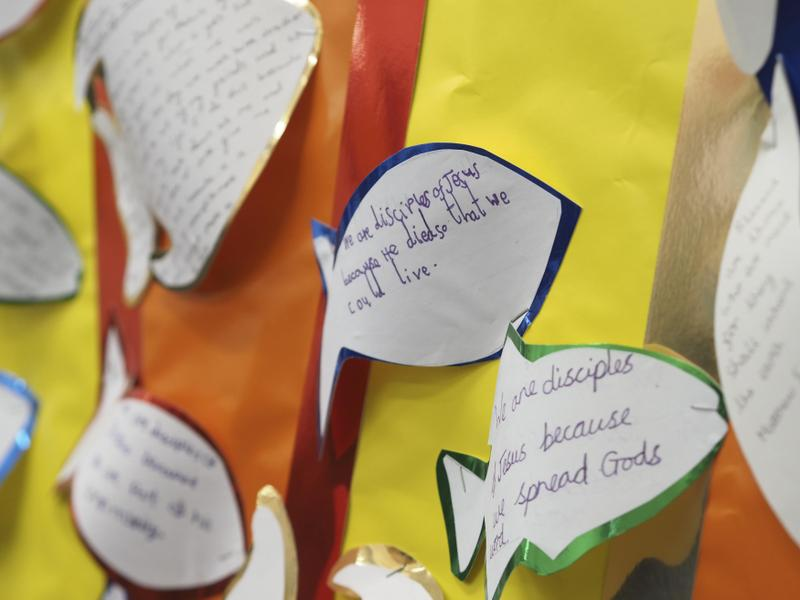 In central areas we display our liturgical journey