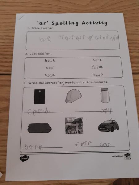 Super spelling practice Hannah!