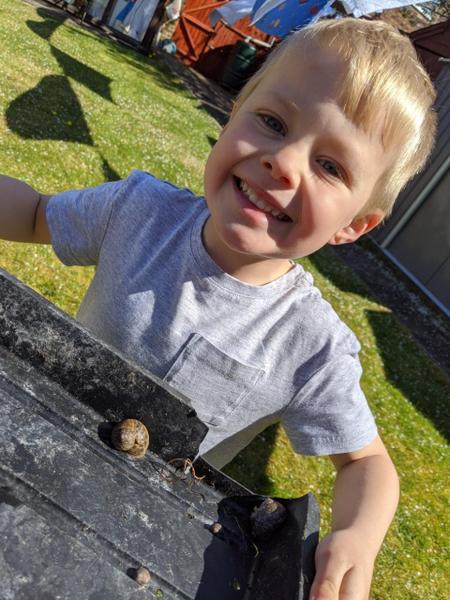 Sebastian has found a snail