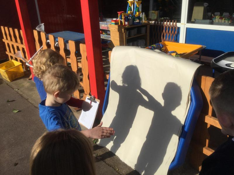 Drawing around our own shadows