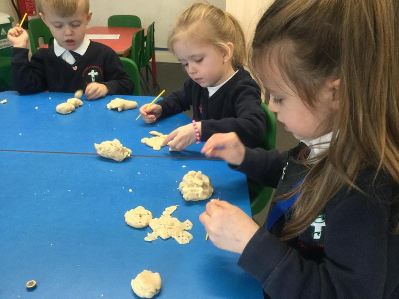 Lots of fun using play dough
