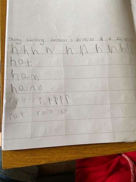 Lots of  hard work Hayden, Great home-learning!