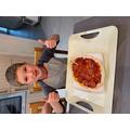 Mason's first pizza