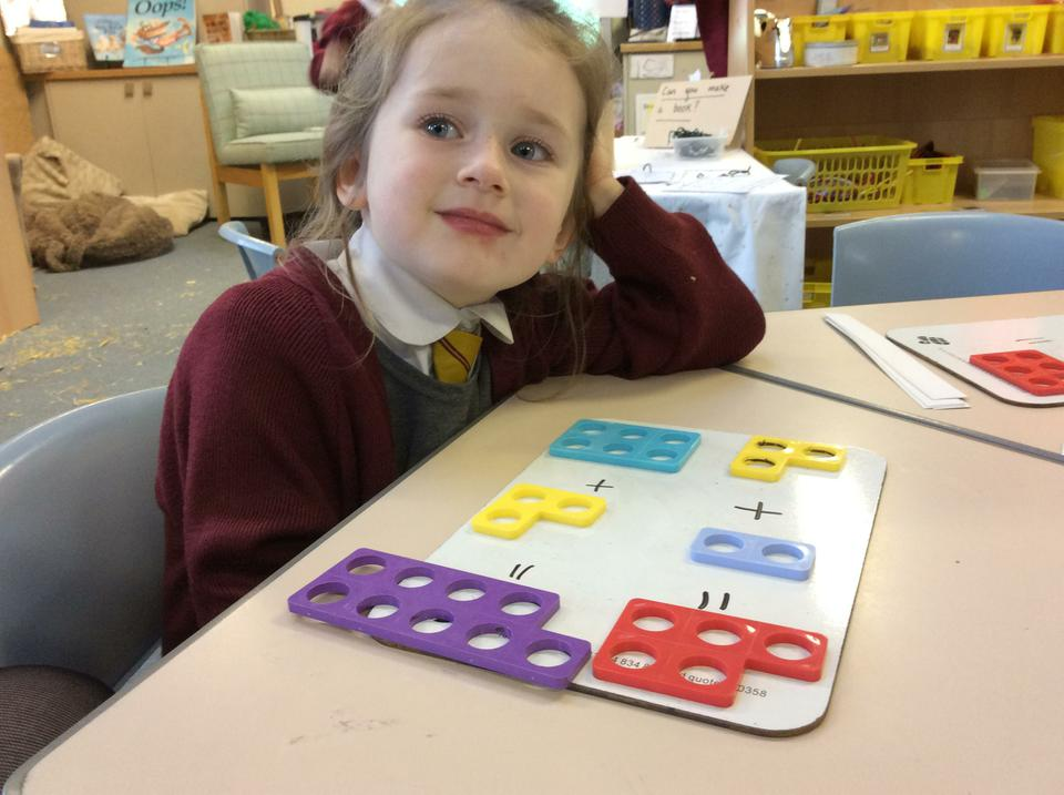 Reception have been adding using Numicon.