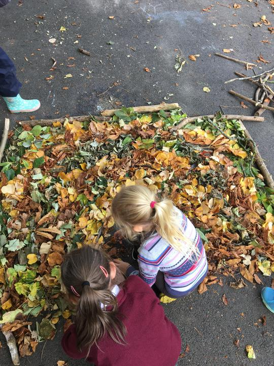 We enjoyed making a natural magical rainbow!