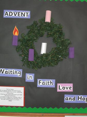 Our interactive Advent Wreath