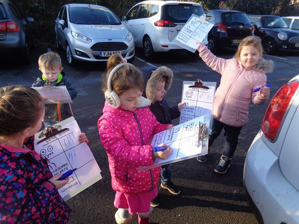 Counting parts of vehicles- welly walk