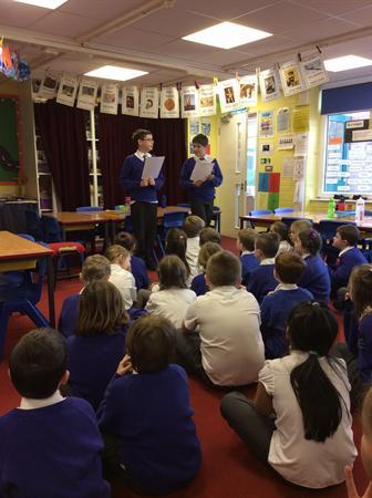 Digital Leaders discussing E-Safety with Year 3