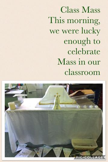 This morning, we celebrated a Mass we had planned. Our theme was 'Charity'