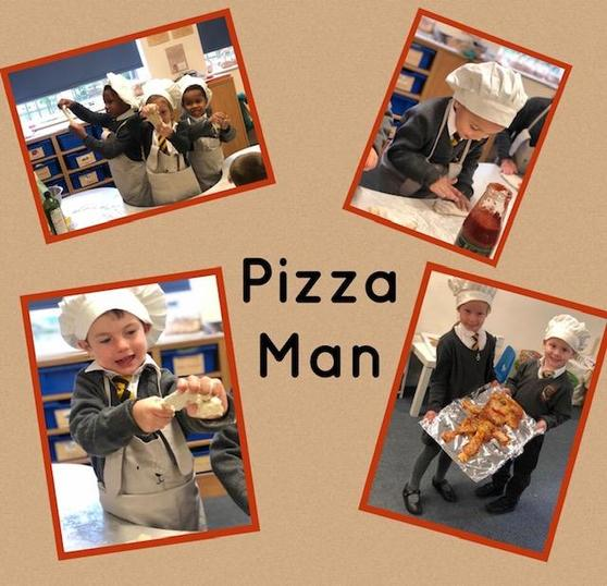 We loved innovating the story of the Gingerbread Man, we had so much fun making Pizza man!