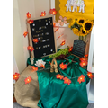 Our Harvest display at the school entrance