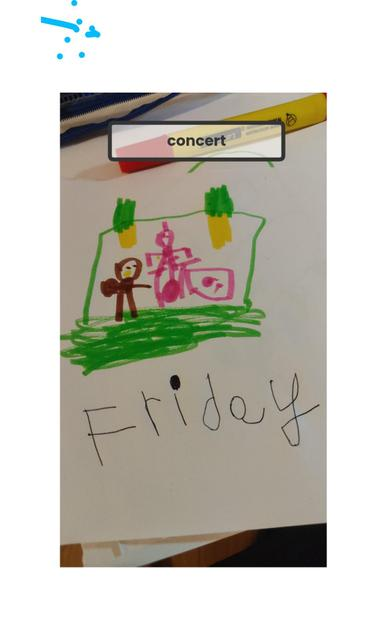 Aleks likes to go to concerts on Fridays, linked to maths.