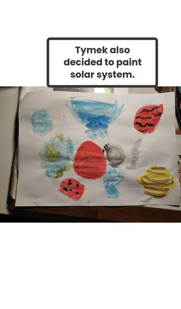 Tymek LOVES our solar system.