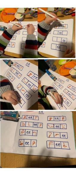 Rupert learned and applied the 'ee' digraph