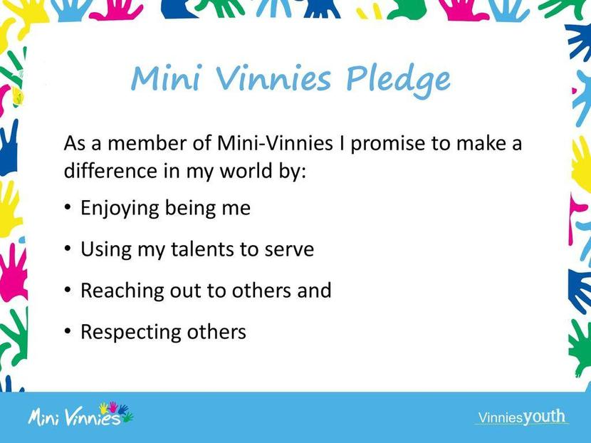 Our Mini Vinnie Pledge