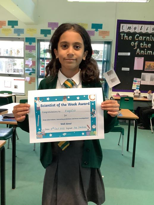 Science super star for recalling science facts in her next step.
