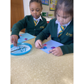 We have been busy making Mother's Day cards.