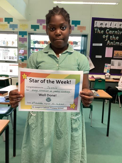 Star of the week for creativity in poetry.