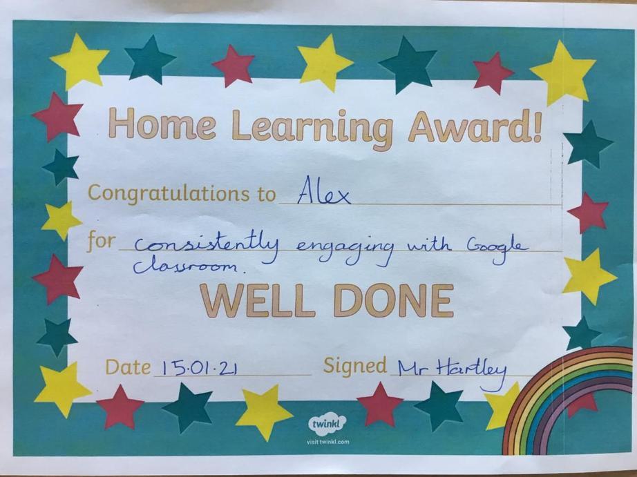 Home Learning Hero