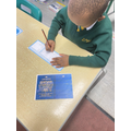 Our topic is about Brazil. We began by making boarding passes and passports.