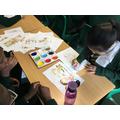 This week, Year 6 used paints and water colours to recreate a scene from our book.