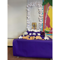 Finally our lilies were complete and could be added to our Feast Day Altar.