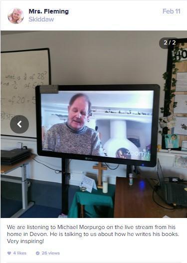 Live stream inteview with Michael Morpurgo