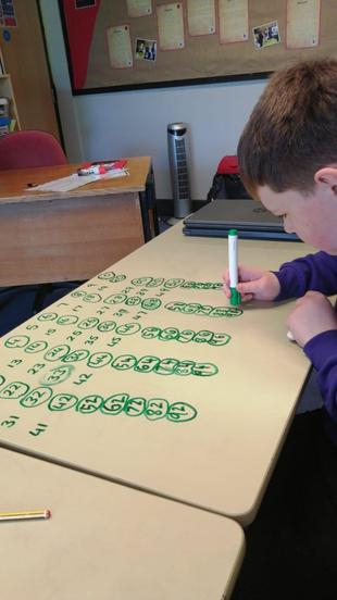 Writing on the tables with a whiteboard marker is something we find very useful.