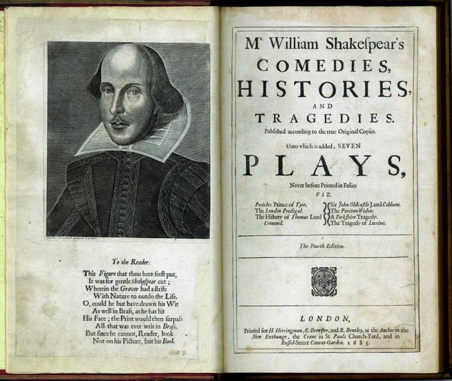 A book of William Shakespeare's plays