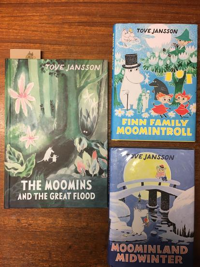 Some of our Moomins class books
