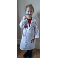 For world book day, Violet dressed up as a doctor, as they were her superheroes!