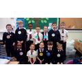 Y2 made badges to show their favourite numbers