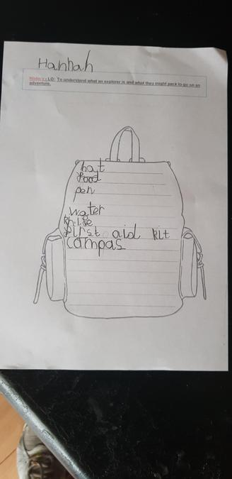 Fantastic explorers back pack writing for history