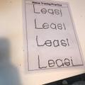 Fantastic name tracing Leasi