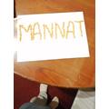 Mannat decorated her baptismal name brilliantly