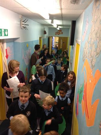 Palm Sunday procession with Year 5
