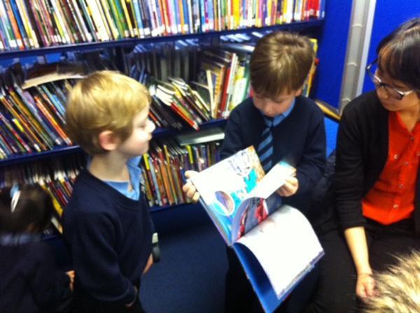 Samuel showing Joshua an interesting book.