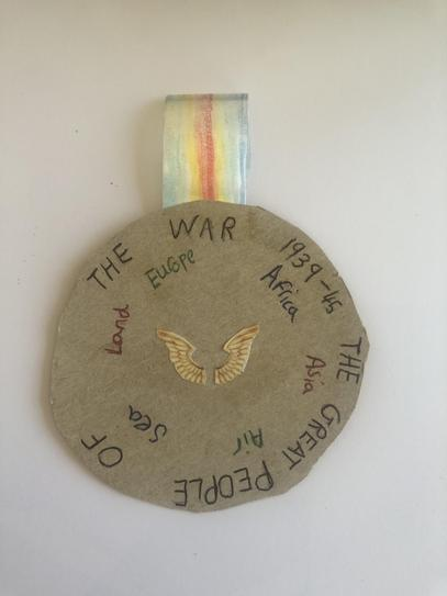 Amelie's amazing VE Day medal