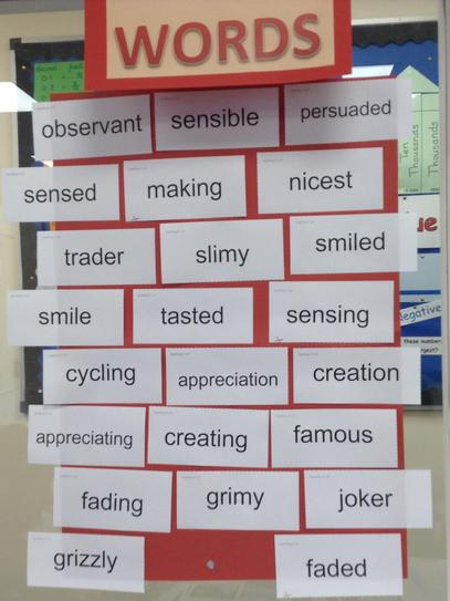 Red words - spelling patterns
